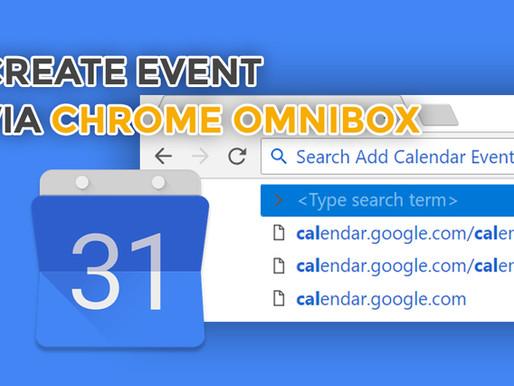 Calendar Event Creation via Omnibox