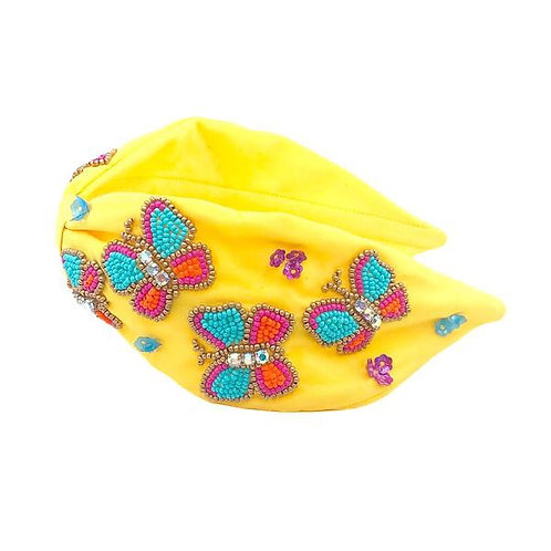 Butterfly Beaded Headband