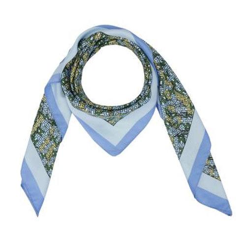 """Bleu """"H"""" Silk Blend Scarf"""