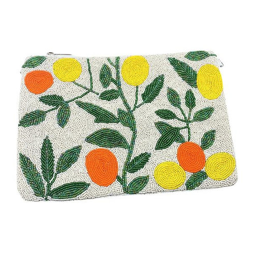 Beaded Citrus Clutch