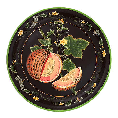 "20"" Tole Tray - Melon"