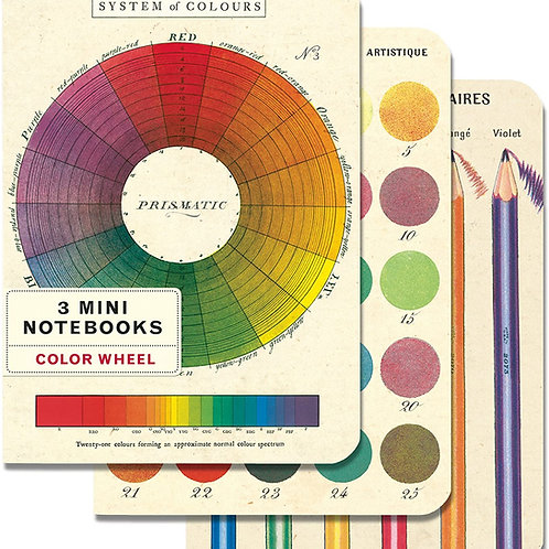 Colorwheel Mini Notebooks - 3 pack