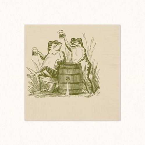 Toasting Toads Beverage Napkins