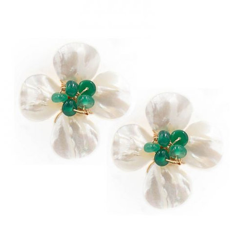 Hazen & Co. Poppy Earring - Emerald