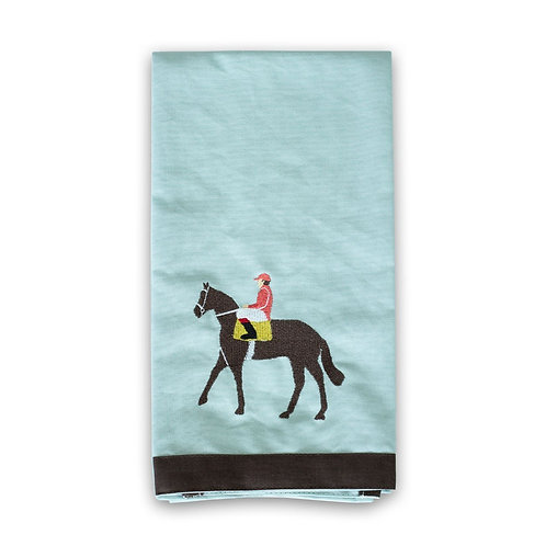 Embroidered Tea Towel - Riders Up