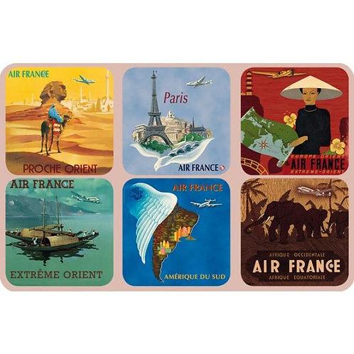 Air France Coasters S/6