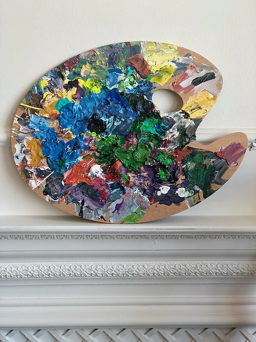 Walter Altman Original Paint Palette