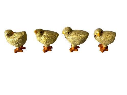 Cast Iron Chicks - Set of Four