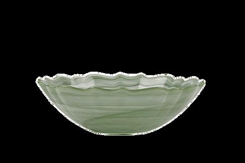 Glass Sage Swirl Bowl