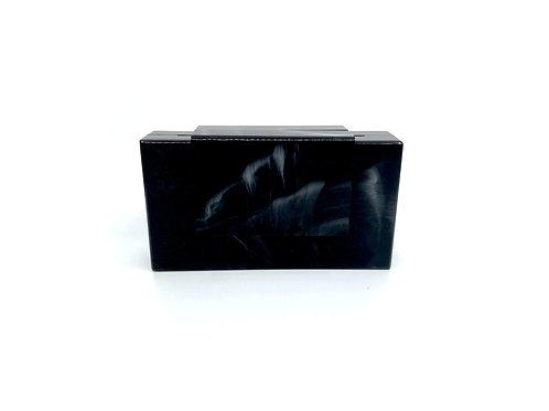 Black Marbled Clutch