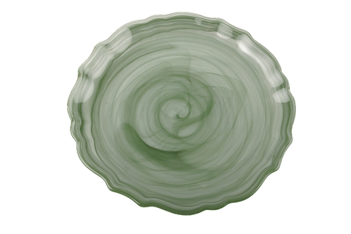 Glass Sage Swirl Salad/Appetizer Plate