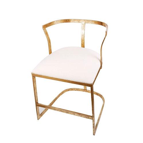 Antique Gold Vanity Chair