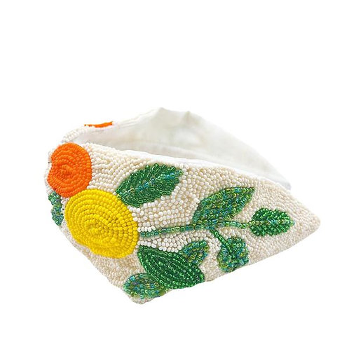 Beaded Citrus Headband