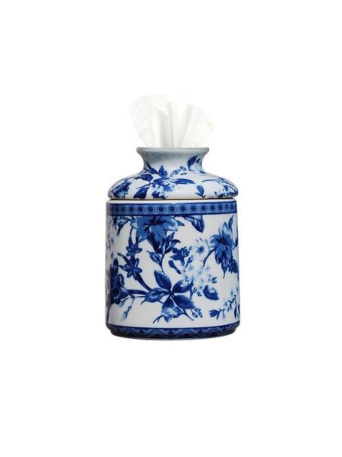 Blue and White Porcelain Tissue Cover
