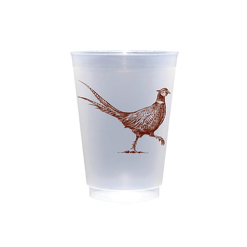 Pheasant Strut 16 oz. Frosted Cups - 10 pk