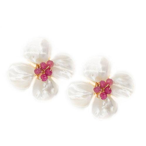 Hazen & Co Poppy Earring - Ruby