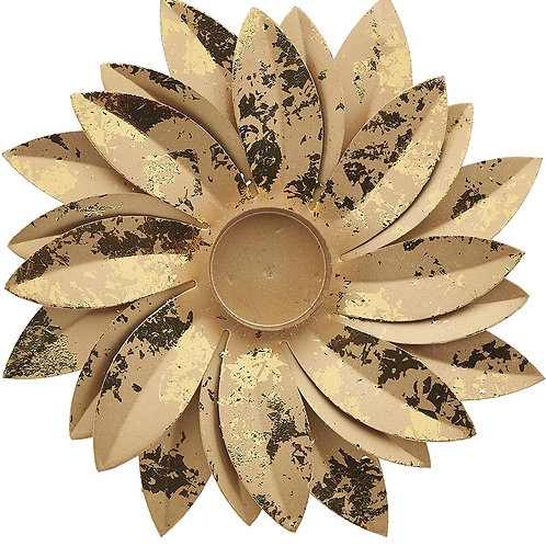Goldleaf Lotus Tealight Holder