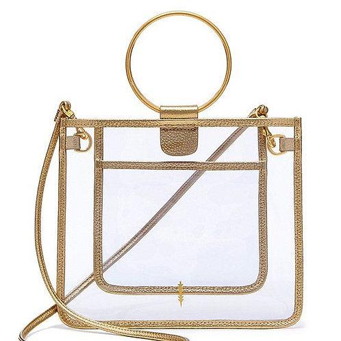 Le Pouch Peekaboo Clear Handbag