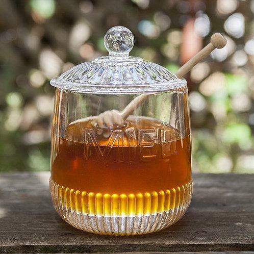 MIEL Glass Honey Jar
