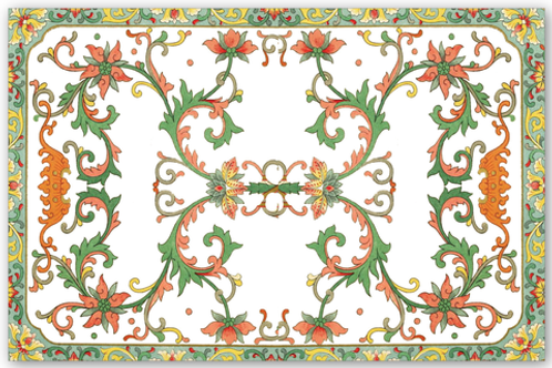 Chinese Floral - Paper Placemats