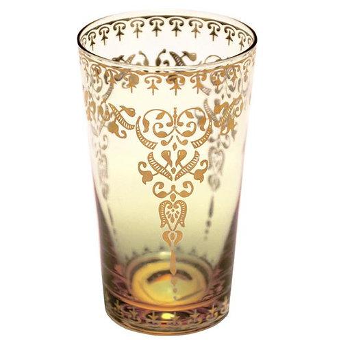 Moroccan Morjana Glass - Amber