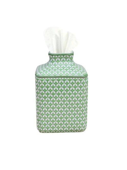 Green Fishscale Porcelain Tissue Holder