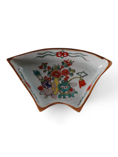 Chinese Floral Eight Treasures Dish