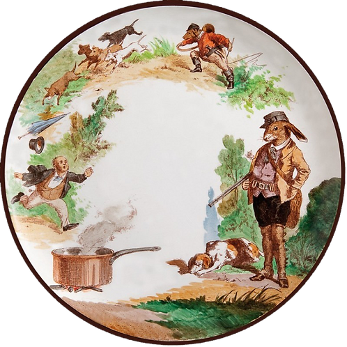 "Au Bain Marie Paris ""The Reverse World"" Assorted Tin Plates - Box of 6"