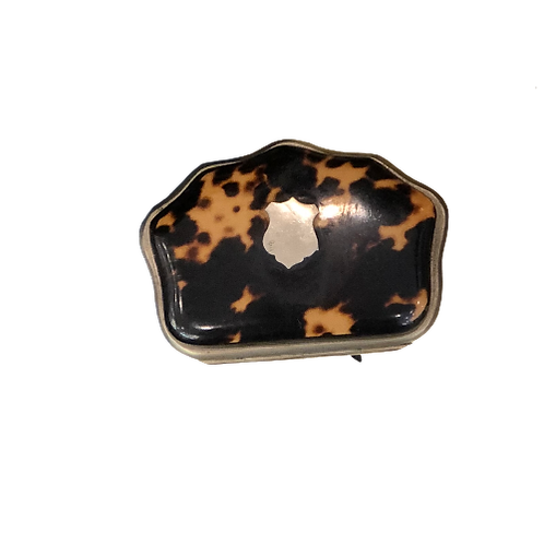 French Antique Tortoise Coin Purse