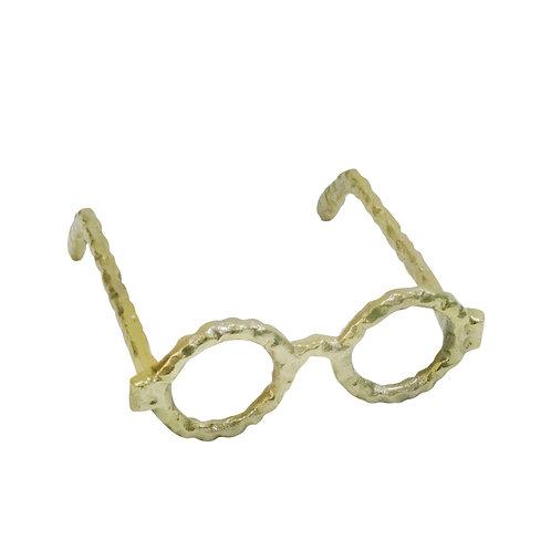 Aluminum Glasses Sculpture - Gold