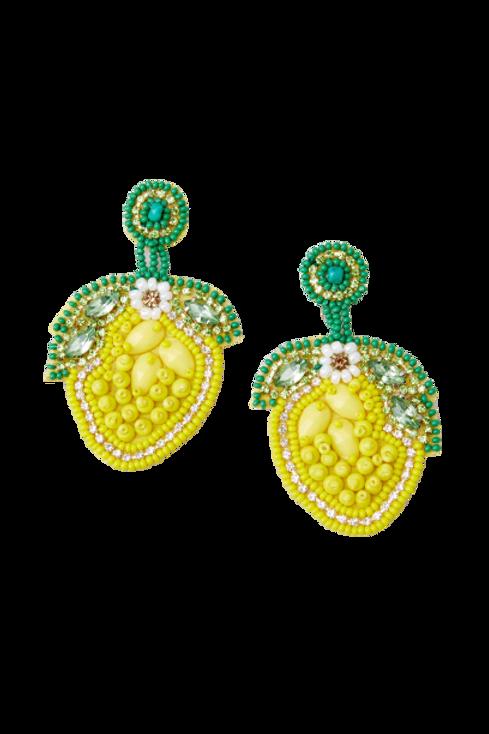 Lemon Sparkle Earrings