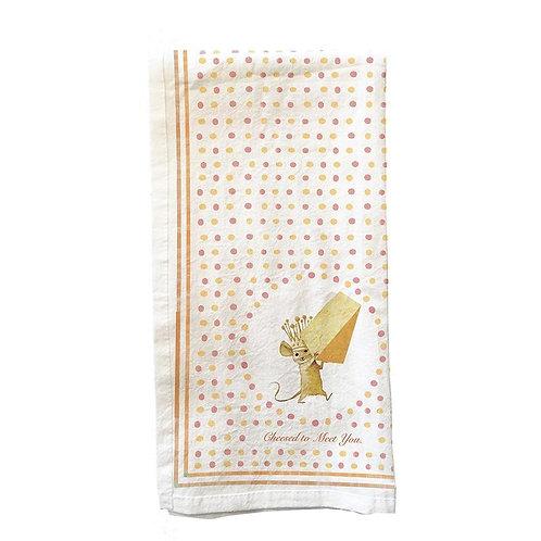 Cheesed to Meet You Tea Towel