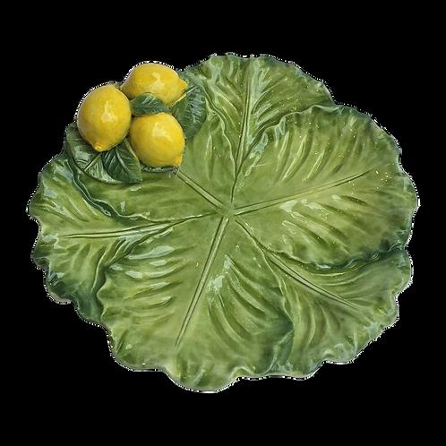 Au Bain Marie Paris Majolica Lemons Plate