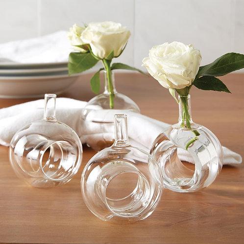 Bud Vase Napkin Rings Set of 4