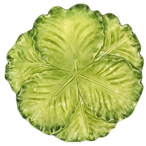Au Bain Marie Paris Majolica Cabbage Plate