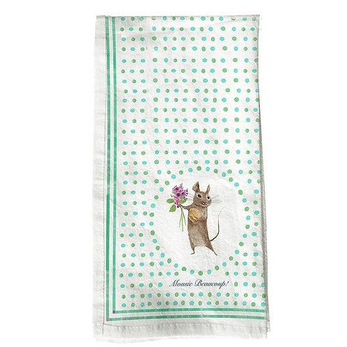 Mousie Beaucoup Tea Towel