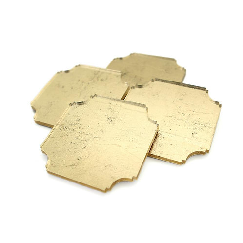 Gilded Gold Coasters   Set of Four
