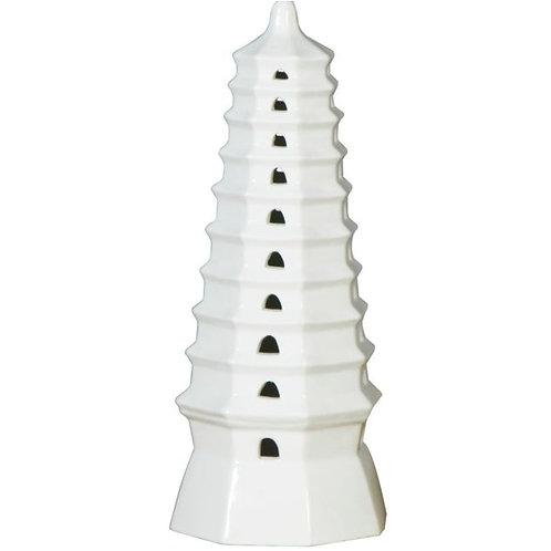 White Porcelain Pagoda Tulipiere