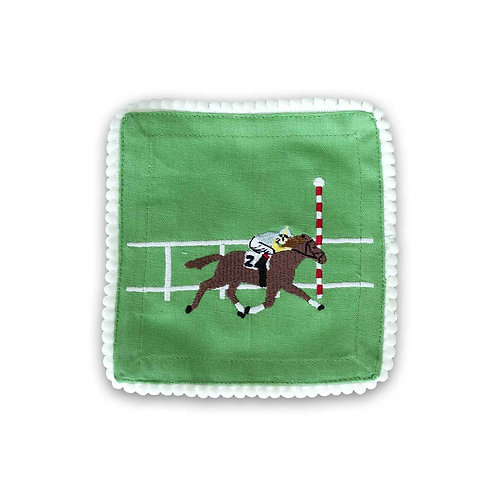 Embroidered Cocktail Napkins S/4 - Finish Line