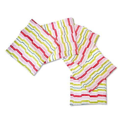Luxe Linen Table Runner - Citrus Stripe