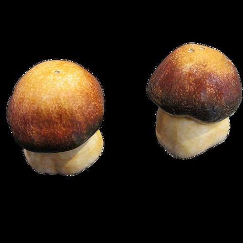 Au Bain Marie Majolica Mushroom Salt Pepper Set