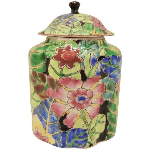 "10"" Tobacco Leaf Tea Jar"