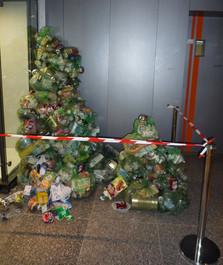 Sapin de Noël recyclé