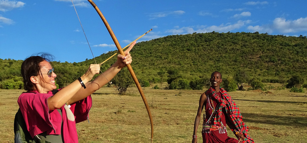 Bow and arrow & spear throwing class