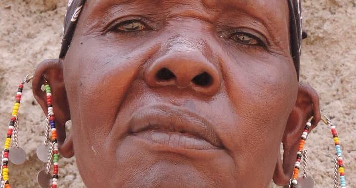 Fierce Maasai lady