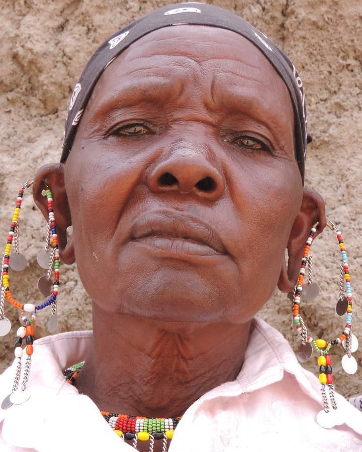 Fierce Maasai lady