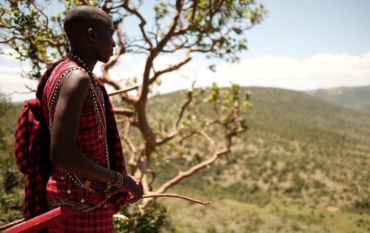Maasai warrior walk