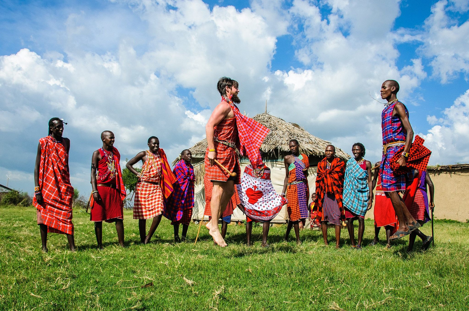 Maasai Jumping competition dance