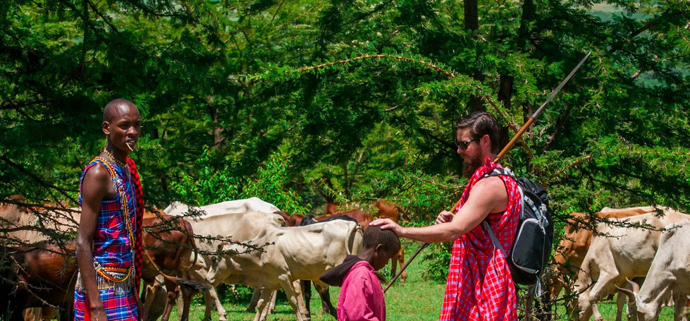 Herding with Maasai