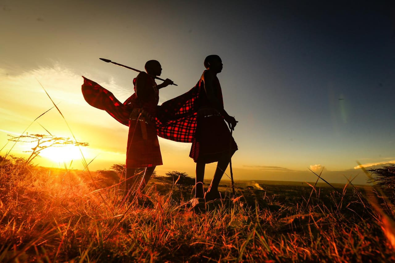 Maasai Warrior Walk + bow & arrow class